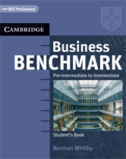 Business Benchmark Pre-Intermediate to Intermediate Student's Book with CD ROM BULATS Edition